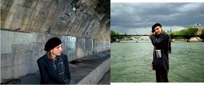 Французский клошар из Парижа
