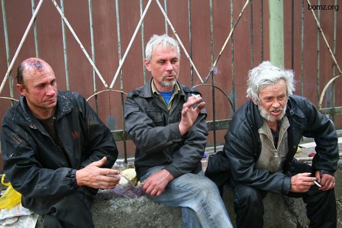 Бомжи Олег, Борода и Серега - из богдановской группировки