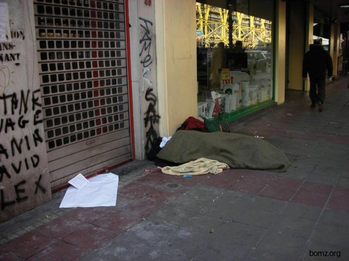 homeless in Brussels