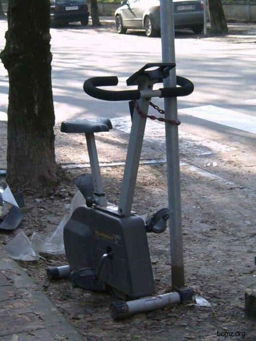 велотренажор на улице