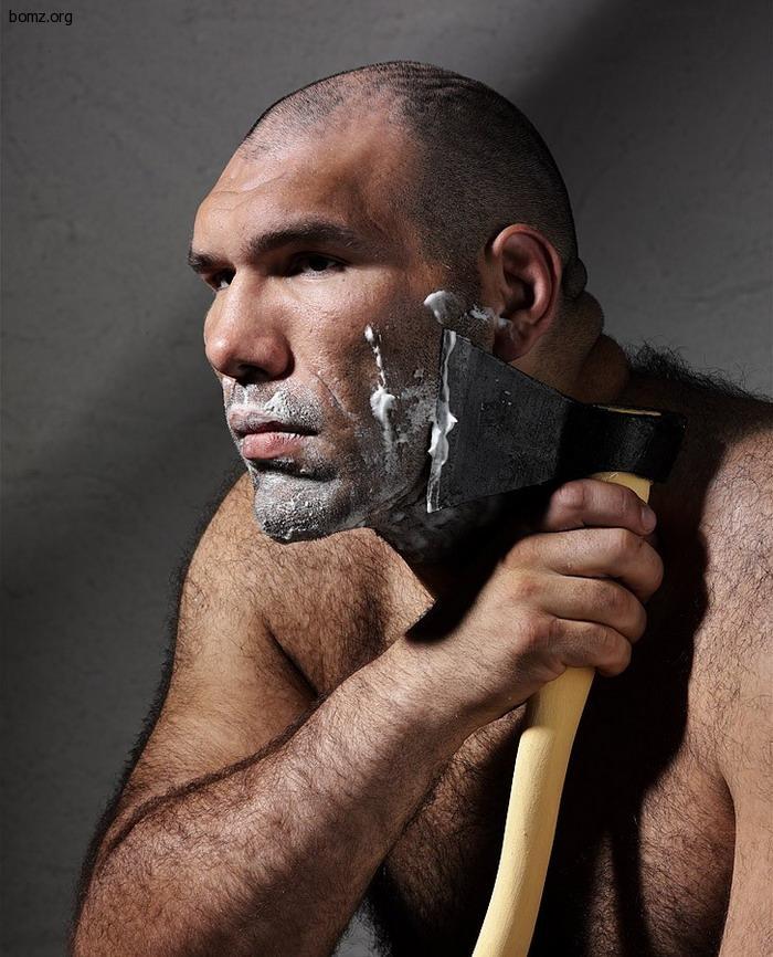 Обычное бритье Валуева