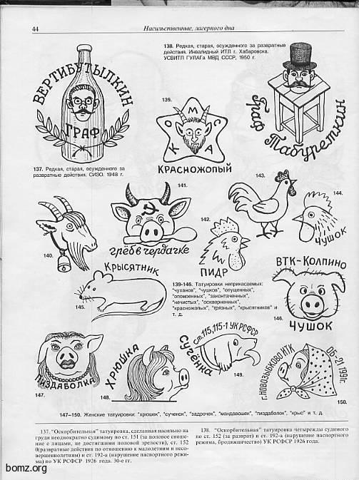 Визуальная энциклопедия российских тюремных татуировок - VICE 49