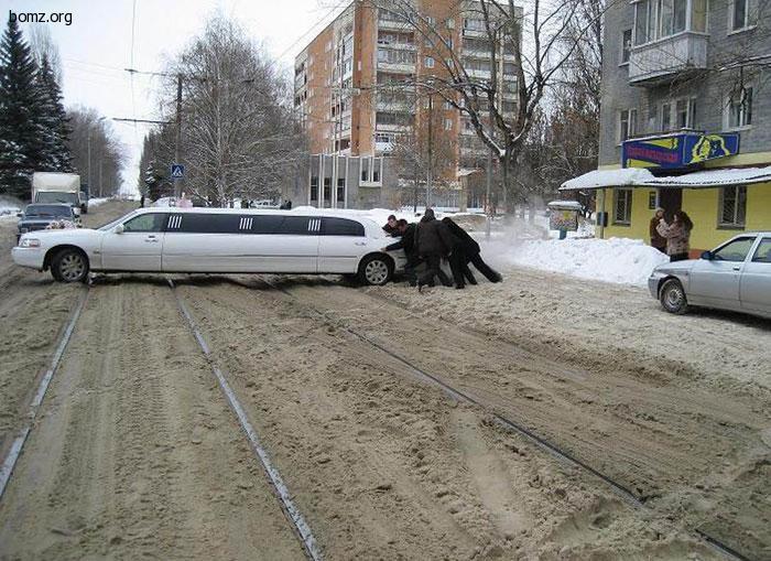 Лимузин и зима